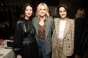 (L-R) Caitriona Balfe, Laura Brown, and Michelle Dockery attend the InStyle Badass Women Dinner Hosted By Laura Brown & Sponsored By Secret at Sunset Tower on January 28, 2020 in West Hollywood, California.