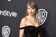 Taylor Swift attends the InStyle And Warner Bros. Golden Globes After Party 2019 at The Beverly Hilton Hotel on January 6, 2019 in Beverly Hills, California.