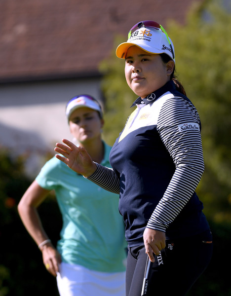 HUGEL-JTBC Championship - Round Two [golf,fourball,golfer,recreation,headgear,competition event,championship,photography,professional golfer,precision sports,two,inbee park,lexi thompson,championship,birdie,front,green,south korea,hugel-jtbc,round]