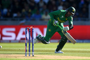 Shoaib Malik of Pakistan is run out by Ravindra Jadeja of India during the ICC Champions Trophy match between India and Pakistan at Edgbaston on June 4, 2017 in Birmingham, England.