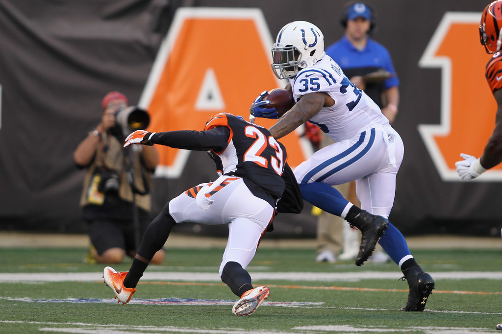indianapolis colts v cincinnati bengals zimbio baltimore ravens defensive back chykie brown during t