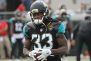 Chris Ivory #33 of the Jacksonville Jaguars warms up on the field prior to the start of their game against the Indianapolis Colts at EverBank Field on December 3, 2017 in Jacksonville, Florida.