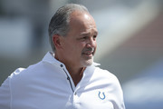 Head Coach Chuck Pagano of the Indianapolis Colts is seen before the game between the Los Angeles Ram and Indianapolis Colts at Los Angeles Memorial Coliseum on September 10, 2017 in Los Angeles, California.