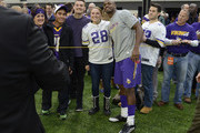Adrian Peterson #28 of the Minnesota Vikings poses for a photo before the game against the Indianapolis Colts on December 18, 2016 at US Bank Stadium in Minneapolis, Minnesota. Peterson returns to play after injuring his knee in week two of the season.