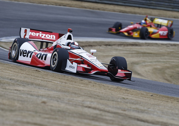 Juan Pablo Montoya of Colombia drives the #2 Verizon Team Penske Chevrolet during IndyCar testing at Barber Motorsports Park on March 17, 2014 in Birmingham, Alabama.