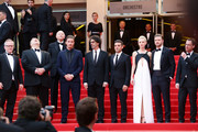 (L-R) Cannes Festival Director Thierry Fremaux, actor John Goodman, festival director Thierry Fremaux . Chairman of the Cannes Film Festival Gilles Jacob, actor Garrett Hedlund, director Joel Coen, actor Oscar Isaac, actress Carey Mulligan, actor Justin Timberlake and director Ethan Coen attend 'Inside Llewyn Davis' Premiere during the 66th Annual Cannes Film Festival at Palais des Festivals on May 19, 2013 in Cannes, France.