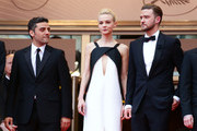 Actor Oscar Isaac, actress Carey Mulligan and actor Justin Timberlake attends 'Inside Llewyn Davis' Premiere during the 66th Annual Cannes Film Festival at Palais des Festivals on May 19, 2013 in Cannes, France.