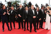 (L-R) (L-R) Actor Garrett Hedlund , actor Justin Timberlake, musician T-Bone Burnett, actor Oscar Isaac, actor John Goodman, director Ethan Coen, director Joel Coen and actress Carey Mulligan attends 'Inside Llewyn Davis' Premiere during the 66th Annual Cannes Film Festival at Palais des Festivals on May 19, 2013 in Cannes, France.