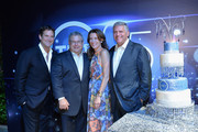 Michael Wright, President, Head of Programming TNT, TBS & TCM, Steve Koonin, President, Turner Entertainment Networks, Sandra Dewey, EVP Head of Business Affairs Turner Entertainment Networks & Cartoon Network Originals and Phil Kent, Chairman and CEO Turner Broadcasting attend TNT's 25th Anniversary Party at The Beverly Hilton Hotel on July 24, 2013 in Beverly Hills, California.