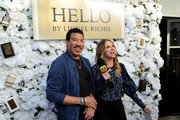 (L-R) Lionel Richie and Lauren Zima attend International Superstar Lionel Richie Celebrates His Premiere Fragrance Line, HELLO By Lionel Richie, In LA, Inspired By His Passion For Love And Music at Ysabel on February 19, 2020 in West Hollywood, California.