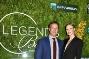 Todd Train and Anne V attend the International Tennis Hall Of Fame Legends Ball at Cipriani 42nd Street on September 7, 2019 in New York City.