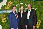 Todd Train, Anne V and Stan Smith attend the International Tennis Hall Of Fame Legends Ball at Cipriani 42nd Street on September 7, 2019 in New York City.