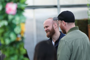 Will Champion & Jonny Buckland of Coldplay at Proximity Greenhouse on January 21, 2020 in Los Angeles, California.