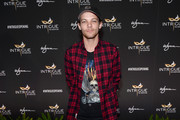 Musician/actor Louis Tomlinson arrives at the grand opening of Intrigue Nightclub at Wynn Las Vegas on April 29, 2016 in Las Vegas, Nevada.