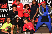 """Actor Michael Ealy (L:), actress Meagan Good (C),  and director Deon Taylor (R) pose with Clark Atlanta University student leaders during """"The Intruder"""" Clark Atlanta University Spring Fest 2019 at Clark Atlanta University Student Center on April 23, 2019 in Atlanta, Georgia."""