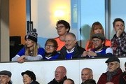 Ipswich Town fan and singer Ed Sheeran looks on during the Sky Bet Championship match between Ipswich Town and Sheffield United at Portman Road on December 22, 2018 in Ipswich, England.