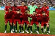 Portugal pose prior to  the 2018 FIFA World Cup Russia group B match between Iran and Portugal at Mordovia Arena on June 25, 2018 in Saransk, Russia.