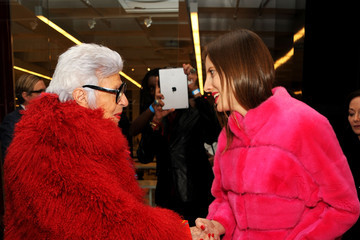 Iris Apfel Front Row at the Ralph Rucci Show