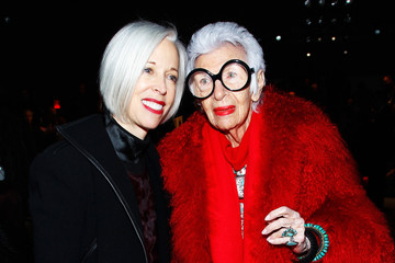 Iris Apfel Joanna Mastroianni - Front Row - Fall 2013 Mercedes-Benz Fashion Week