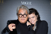 Giuseppe Zanotti (L) and guest attend the Irving Penn Exhibition Private Viewing Hosted by Vogue as part of the Paris Fashion Week Womenswear Spring/Summer 2018 on October 1, 2017 in Paris, France.
