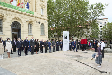 Isabel Celaa Spanish Royals Inaugurate The Memorial Center For The Victims Of Terrorism In Vitoria