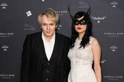 Nick Rhodes and Nefer Suvio attend Isabella Blow: Fashion Galore! at Somerset House on November 19, 2013 in London, England.