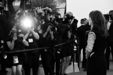 """Isabelle Huppert """"Aline, The Voice Of Love"""" Red Carpet - The 74th Annual Cannes Film Festival"""