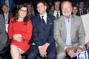 (L-R) Mayim Bialik, Consul General of Israel, Los Angeles Sam Grundwerg and Kelsey Grammer attend the 70th Anniversary of Israel celebration in Los Angeles on Sunday, June 10, 2018.