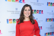 Mayim Bialik attends the 70th Anniversary of Israel celebration in Los Angeles on Sunday, June 10, 2018.