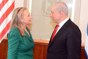 Hillary Clinton and Benjamin Netanyahu Photos Photo
