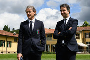 Roberto Mancini and Michele Uva Photos Photo