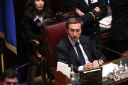 Italian Lower house speaker Gianfranco Fini attends the confidence vote to his government at the Lower house on December 14, 2010 in Rome, Italy. Italian Prime Minister Silvio Berlusconi faced a vote of no confidence from both the Senate and the Lower House but won both counts.