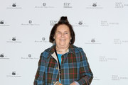 Suzy Menkes attends 'Italiana. L'Italia Vista Dalla Moda 1971-2001' exhibition preview during Milan Fashion Week Fall/Winter 2018/19 at Palazzo Reale on February 21, 2018 in Milan, Italy.