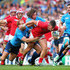Mauro Bergamasco Photos - DTH Van Der Merwe of Canada  is tackled by Gonzalo Garcia and Mauro Bergamasco of Italy during the 2015 Rugby World Cup Pool D match between Italy and Canada at Elland Road on September 26, 2015 in Leeds, United Kingdom. - Italy v Canada - Group D: Rugby World Cup 2015