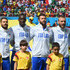 Mario Balotelli Andrea Pirlo Photos - (L-R) Antonio Candreva, Mario Balotelli, Andrea Barzagli, Daniele De Rossi and Andrea Pirlo of Italy sing the National Anthem prior to the 2014 FIFA World Cup Brazil Group D match between Italy and Costa Rica at Arena Pernambuco on June 20, 2014 in Recife, Brazil. - Italy v Costa Rica: Group D
