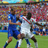 Daniele De Rossi Giorgio Chiellini Photos - Joel Campbell of Costa Rica battles for the ball with Giorgio Chiellini and Daniele De Rossi of Italy during the 2014 FIFA World Cup Brazil Group D match between Italy and Costa Rica at Arena Pernambuco on June 20, 2014 in Recife, Brazil. - Italy v Costa Rica: Group D