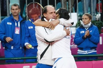 Corrado Barattuzzi Italy v USA - Fed Cup World Group Final Day One