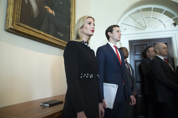 Ivanka Trump Trump Holds A Meeting With Members Of His Cabinet