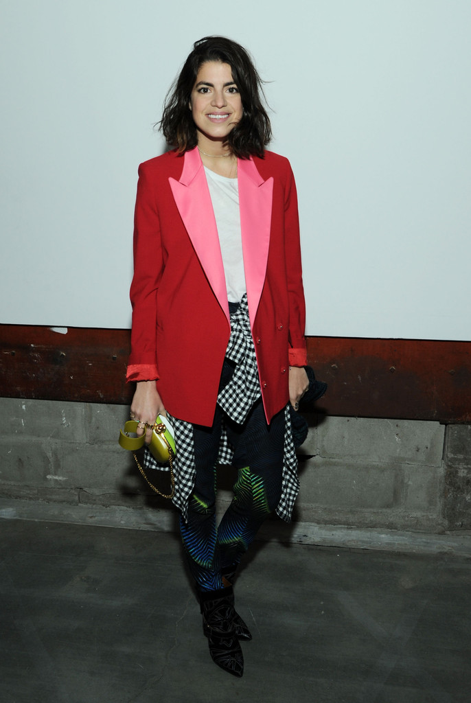 Designer Leandra Medine attends the J Brand fall 2013 presentation during Mercedes-Benz Fashion Week at the Swiss Institute on February 6, 2013 in New York City.