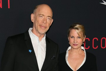 J.K. Simmons Michelle Schumacher Premiere of Warner Bros Pictures' 'The Accountant' - Arrivals