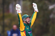 Matthew Wade of Tasmania unsucessfully appeals for LBW against Cameron White of Victoria during the JLT One Day Cup match between Victoria and Tasmania at Junction Oval on October 10, 2018 in Melbourne, Australia.