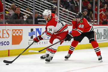 Jaccob Slavin Carolina Hurricanes Vs. Chicago Blackhawks