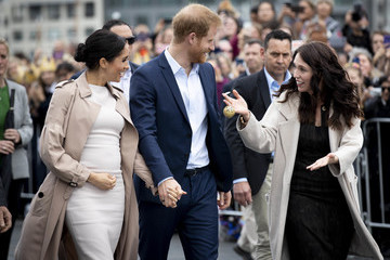 Jacinda Ardern The Duke And Duchess Of Sussex Visit New Zealand - Day 3