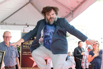 Jack Black Jack Black Honored With Star On The Hollywood Walk Of Fame