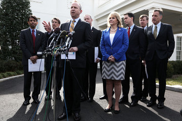 Jack Markell Governors Speak To Media After Meeting At White House