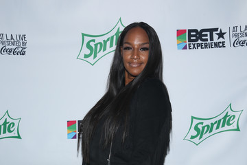 Jackie Christie 2017 BET Experience - Celebrity Basketball Game Presented by Sprite and State Farm - Backstage
