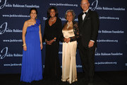 President and Chief Executive Officer Della Britton Baeza, performing artist Lori Stokes, Founder Rachel Robinson and Chariman Leonard S. Coleman, Jr.  attend the Jackie Robinson Foundation Annual Awards Dinner at the The Waldorf Astoria on March 8, 2010 in New York City.