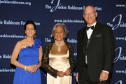 President and Chief Executive Officer Della Britton Baeza, Chariman Leonard S. Coleman, Jr. and Founder Rachel Robinson attends the Jackie Robinson Foundation Annual Awards Dinner at the The Waldorf Astoria on March 8, 2010 in New York City.