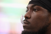 Running back Chris Ivory #33 of the Jacksonville Jaguars watches from the sidelines during the first half of the NFL game against the Arizona Cardinals at the University of Phoenix Stadium on November 26, 2017 in Glendale, Arizona. The Cardinals defeated the Jaguars  27-24.