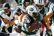 Chris Ivory #33 of the New York Jets runs the ball during the first quarter against the Jacksonville Jaguars at MetLife Stadium on November 8, 2015 in East Rutherford, New Jersey.
